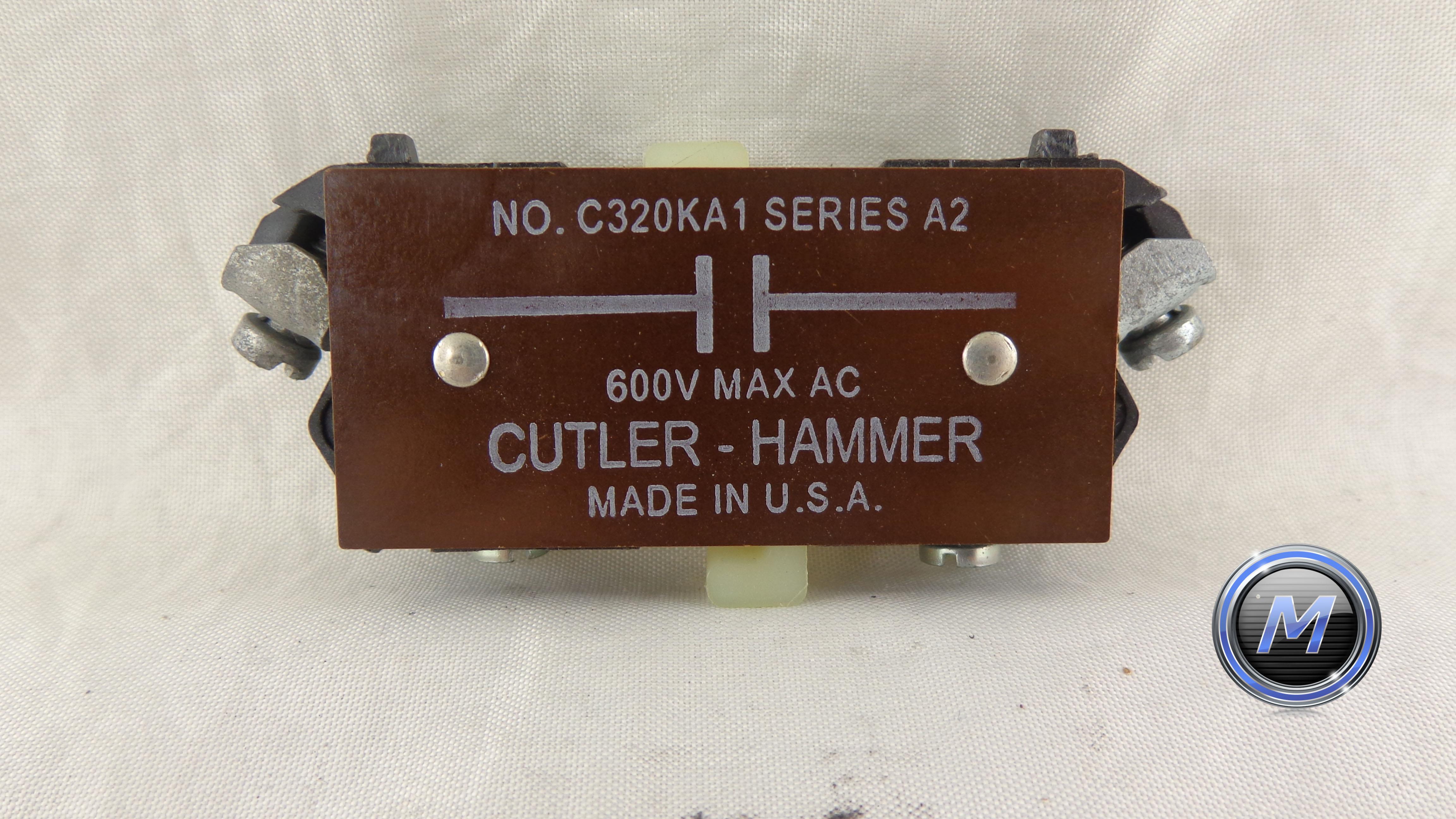 C320ka1 cutler hammer auxiliary contact block n o for Cutler hammer motor control centers