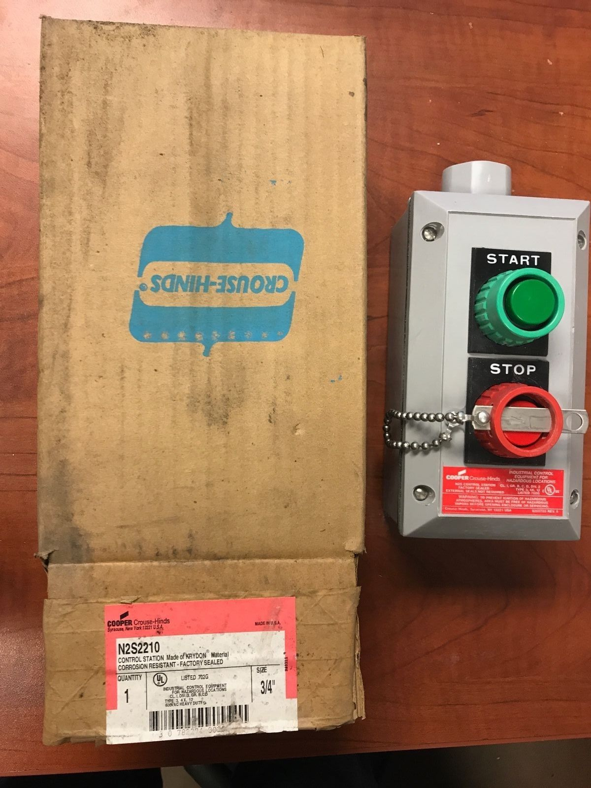 N2s2210 crouse hinds krydon start stop pushbutton for Class 1 div 2 motor disconnect switch