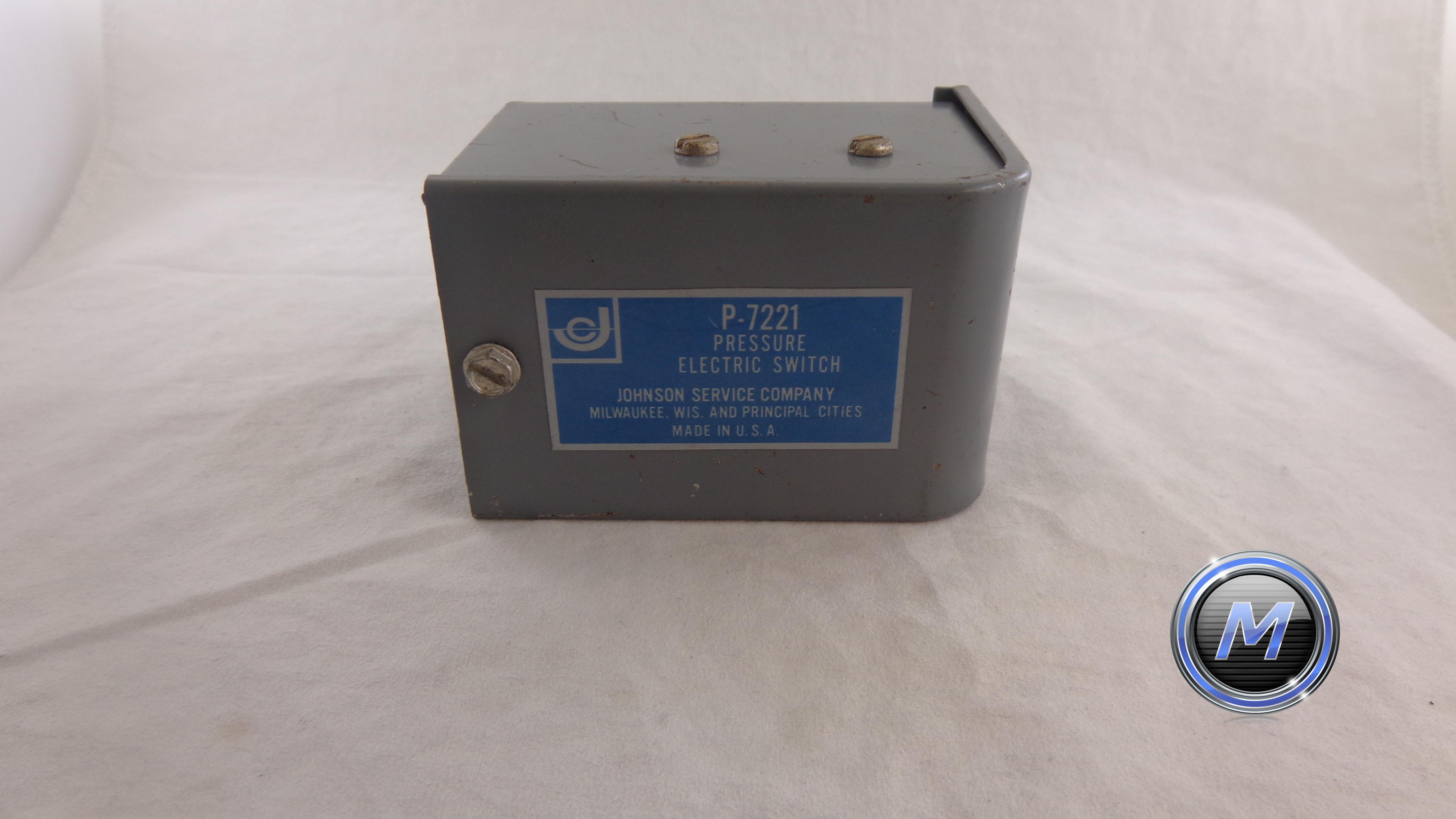 P-7221, JOHNSON SERVICE COMPANY PRESSURE ELECTRIC SWITCH, P-7221 ...