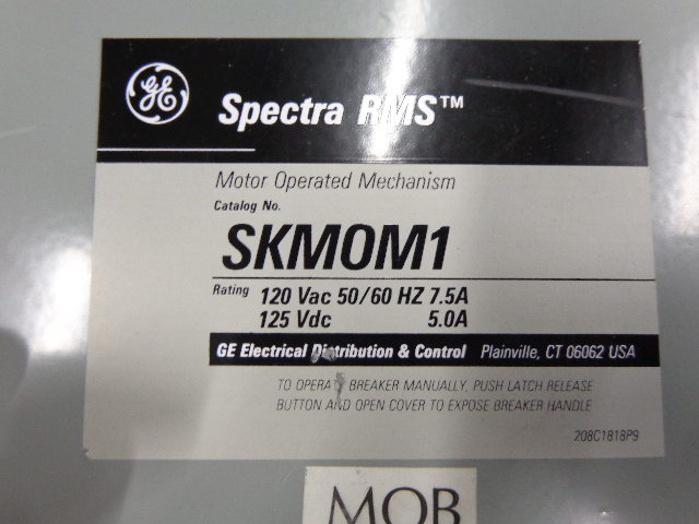 Skmom1 general electric spectra rms motor operated for Motor operated circuit breaker
