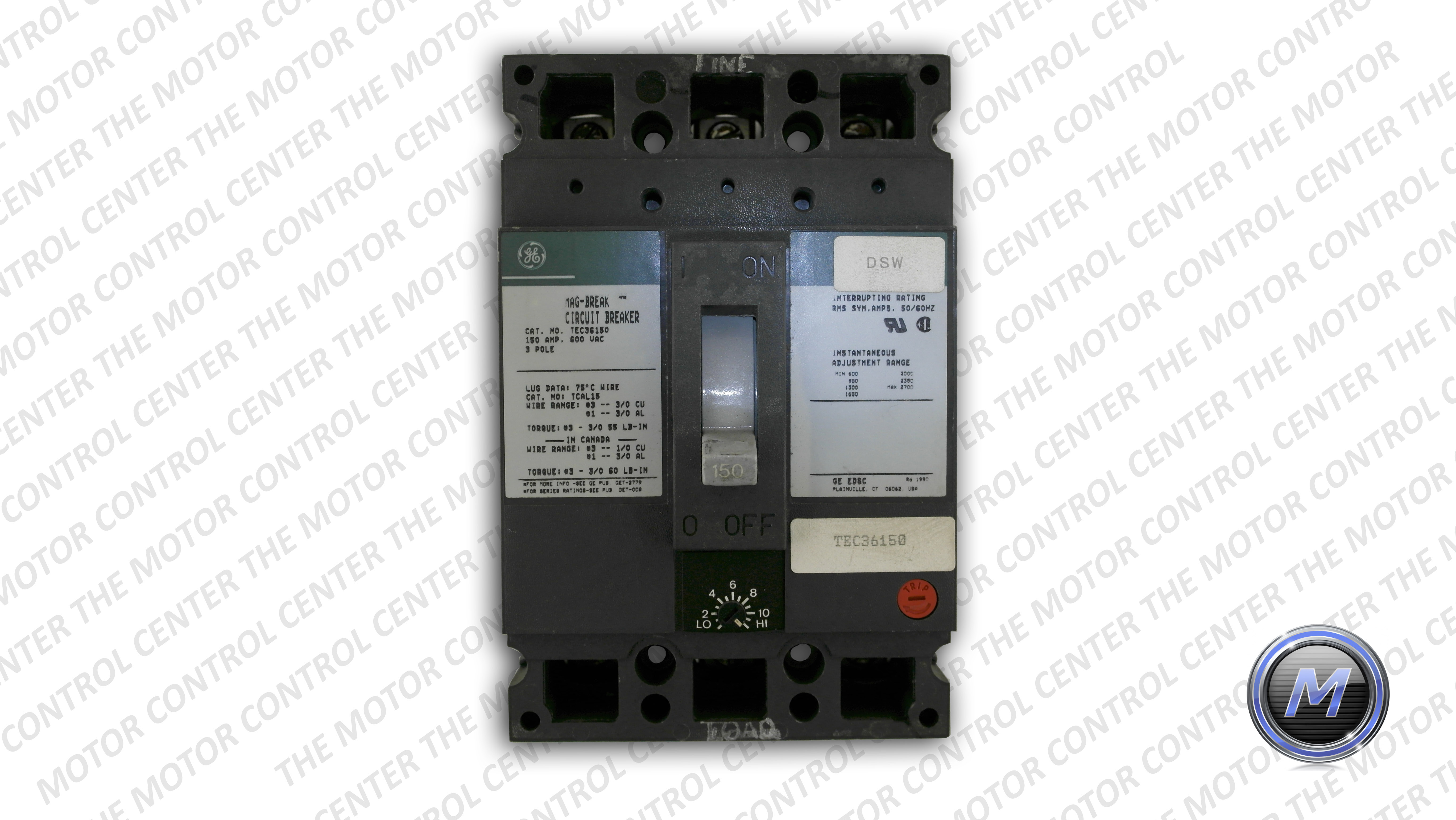 Tec36150 General Electric Molded Circuit Breaker Green